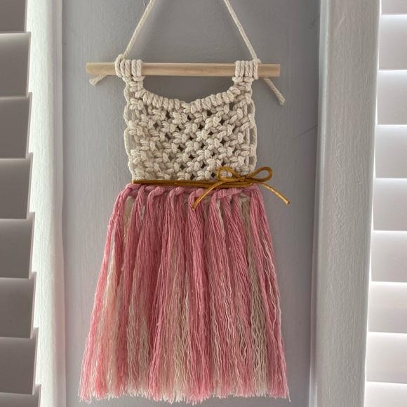Macrame dress wall hanging